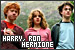Harry Potter - Hermione Granger, Harry Potter and Ron Weasley