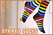 Clothing & Shoes - Socks: Striped